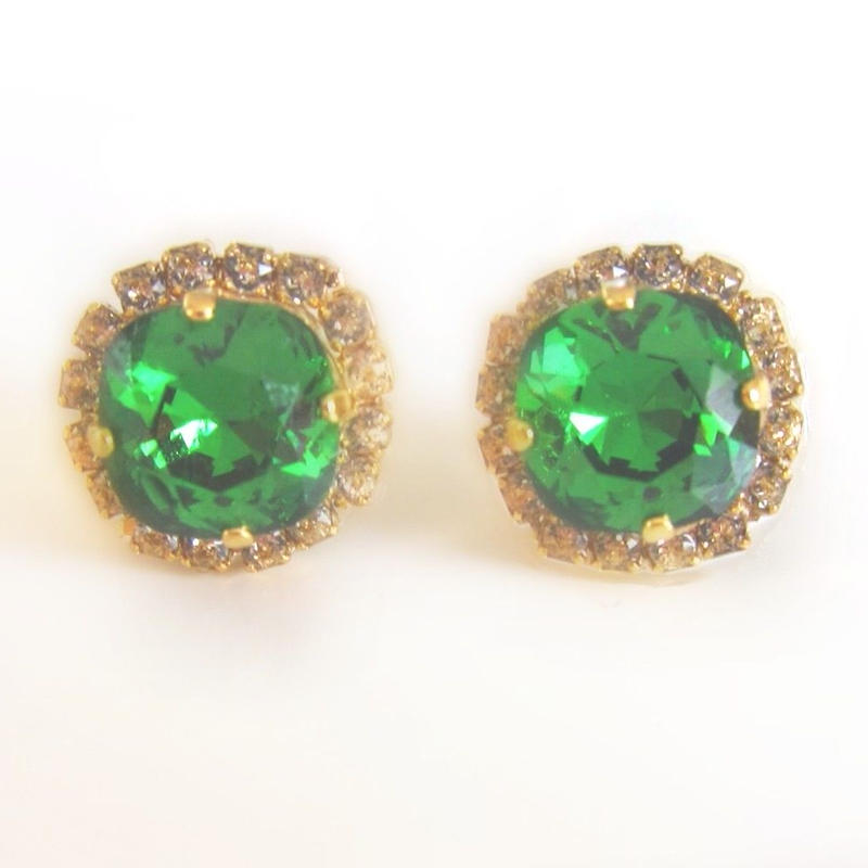 Bijouest petit / classic green Pierrce & earring