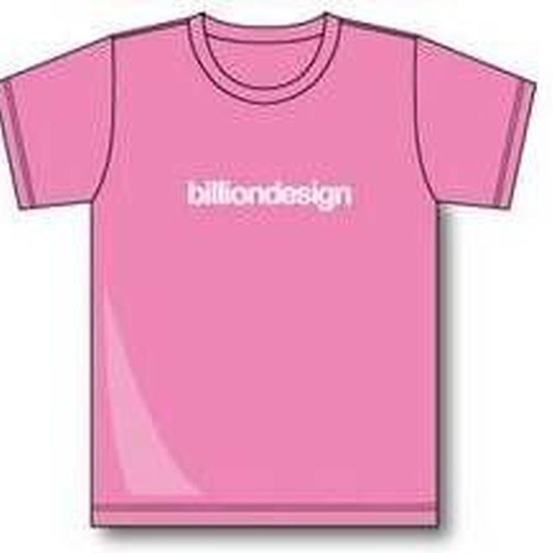 billiondesign T-shirt(ピンク)
