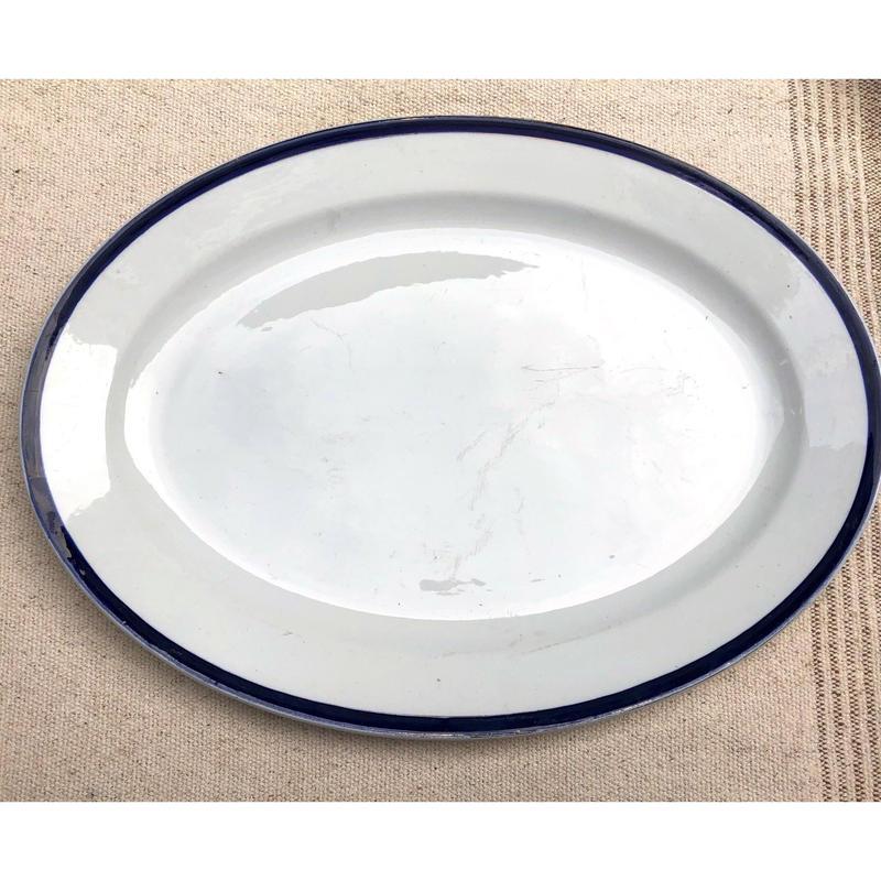 ブルーラインの大皿