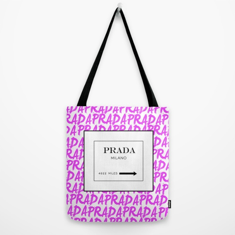 Society6/Artist Tote Bag PRADA white