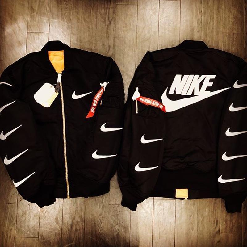 Beavertons  Most Wanted /Alpha  custom MA1 Jacket BLACK
