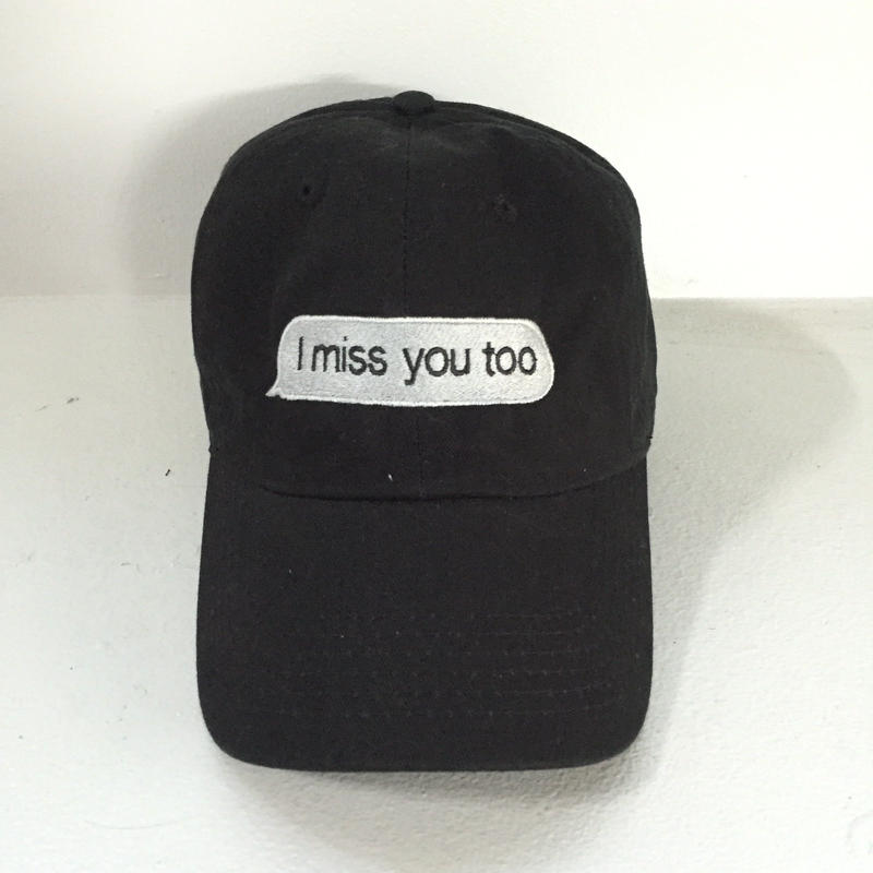 Trius Garments/i miss you too Reply cap ブラック