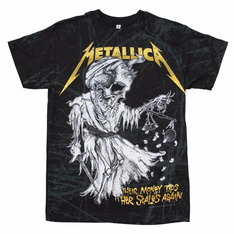 Metallica/official  band Tee (Tip The Scales)