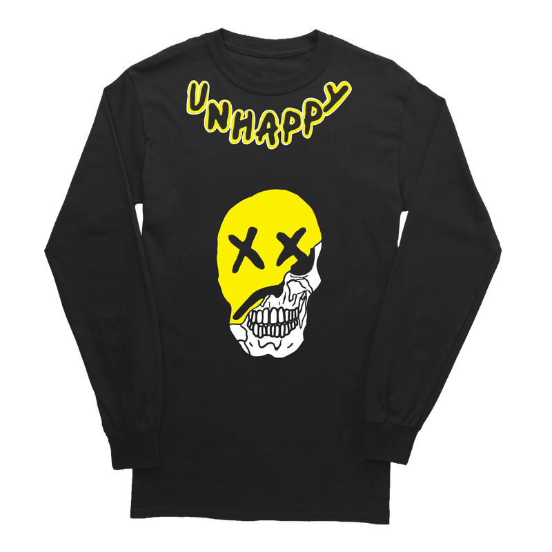 Lil Pump official merch/Unhappy Smile LongSleeve TEE BLACK