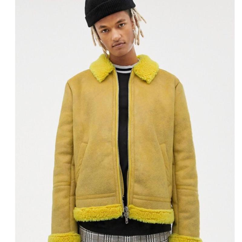 FUR Boa  Jacket  Yellow