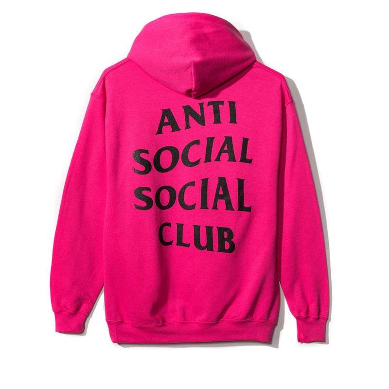 Anti Social Social Club/488 cherry Pink Hoodie 限定カラー