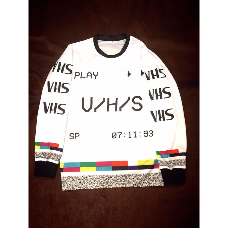 3hunna Hollywood /VHS longsleeve White
