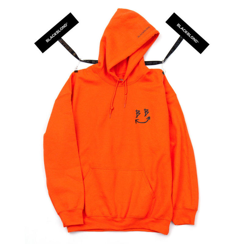 BLACK BLOND/BB smile  Hoodie (Orange)