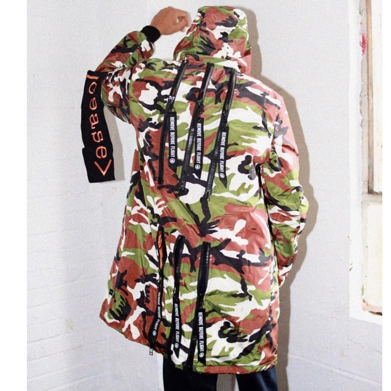 Ceast ± Desist/CAMO LONG BOMBER JACKET