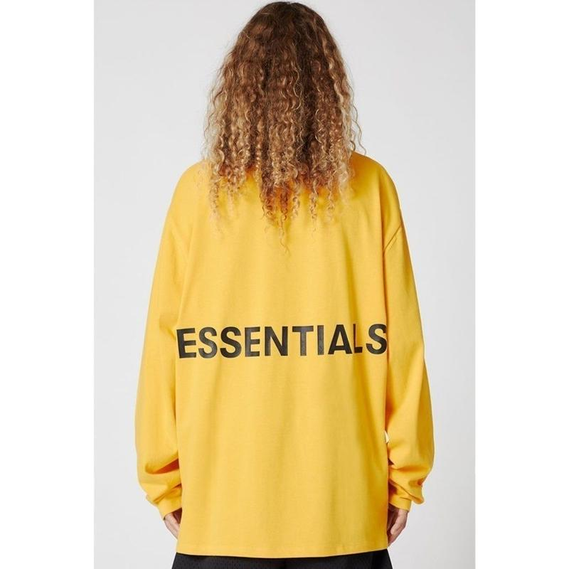 Fear Of God  FOG Essentials/Graphic Long Sleeve Tee YELLOW