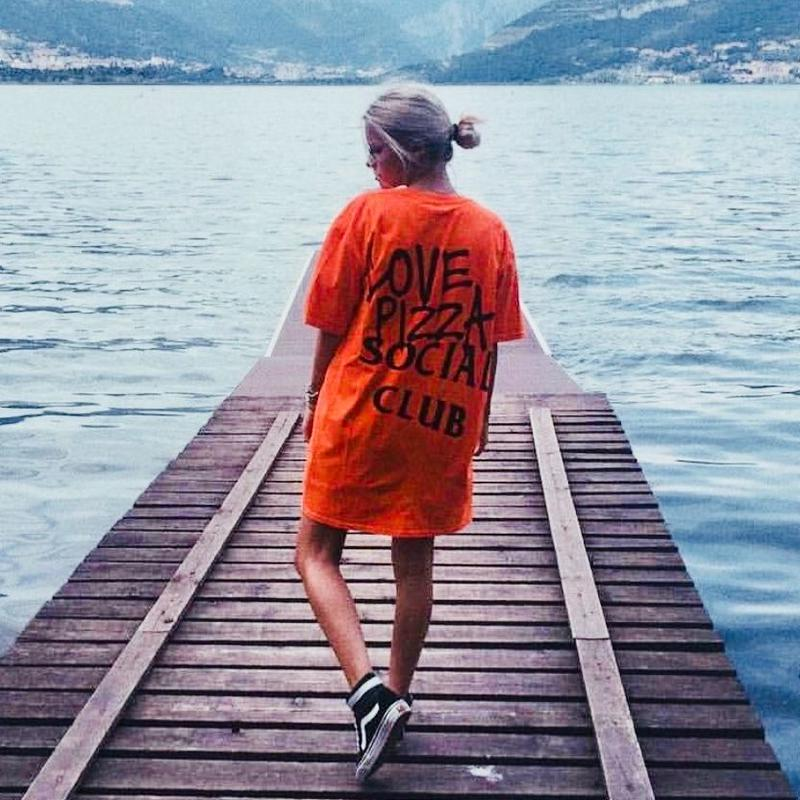 No Perfect Italy/Love Pizza Social Club Tee Orange