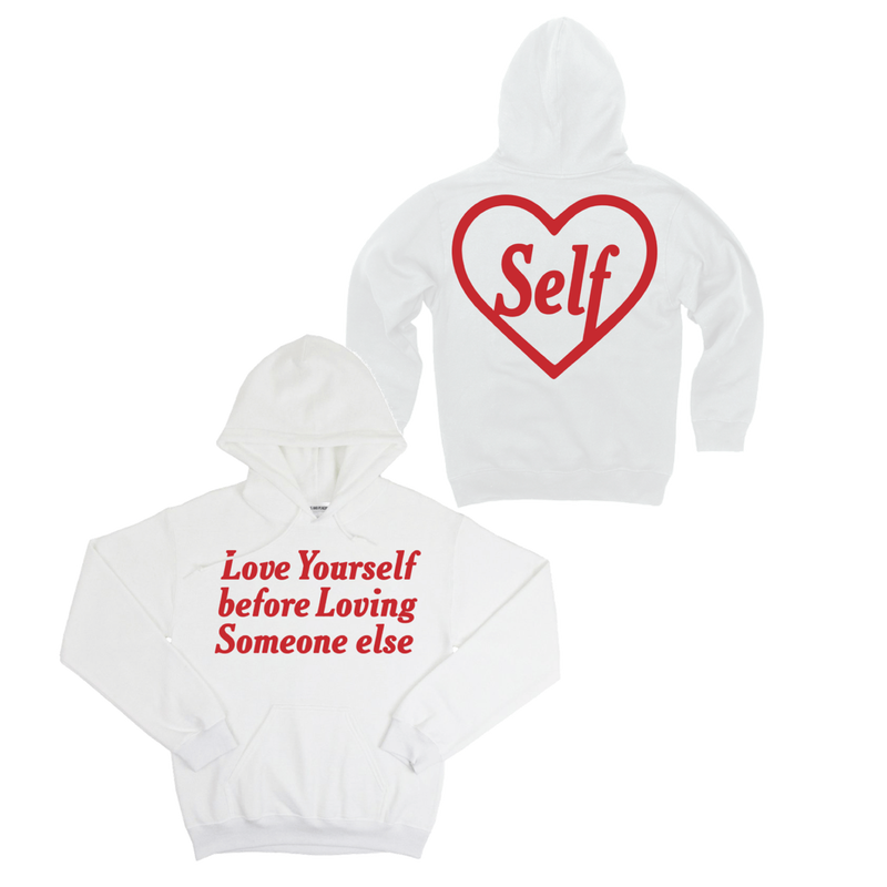 Petals and Peacocks/Love Hoodie White