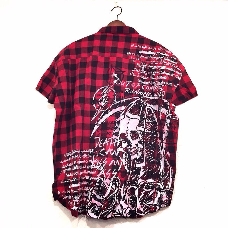 Granted/Art Paint Oversized cut off shirts