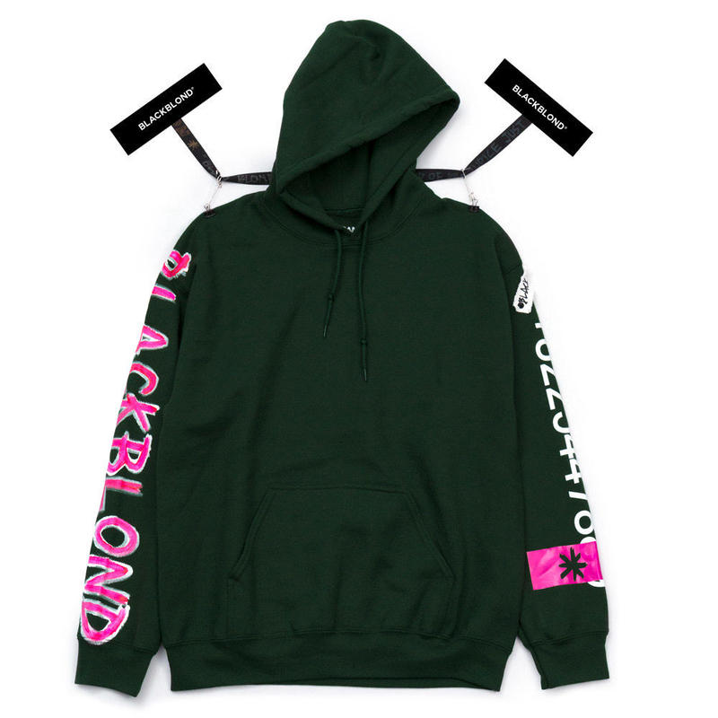BLACK BLOND/CUSTOM Hoodie (Dark Green)
