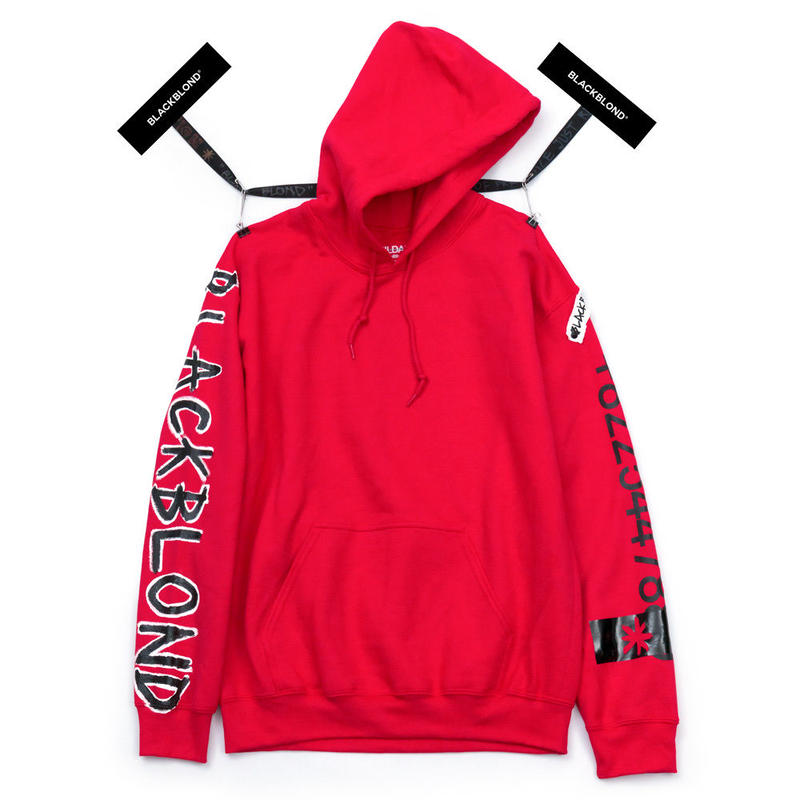 BLACK BLOND/CUSTOM Hoodie (RED)