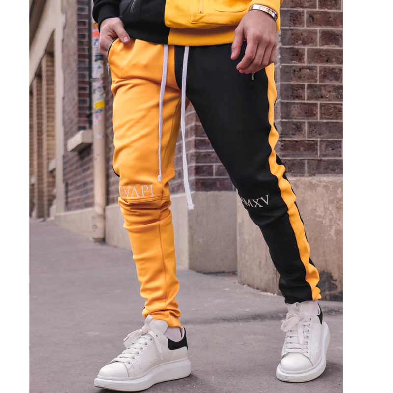 GUAPI/FUSION Track Pants YELLOW×BLACK