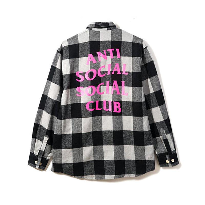 Anti Social Social Club/Han Flannel チェックシャツ Black