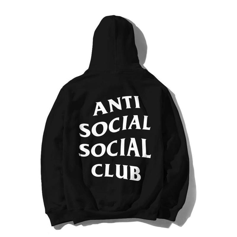 Anti Social Social Club/Logo フーディー BLACK