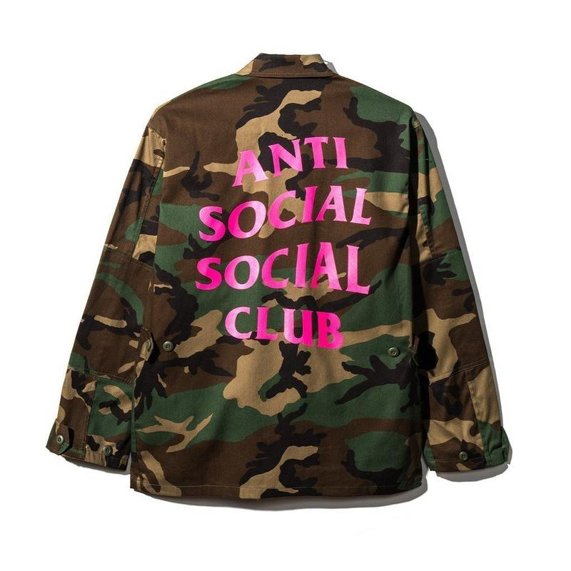 Anti Social Social Club/Never Change Camo Jacket