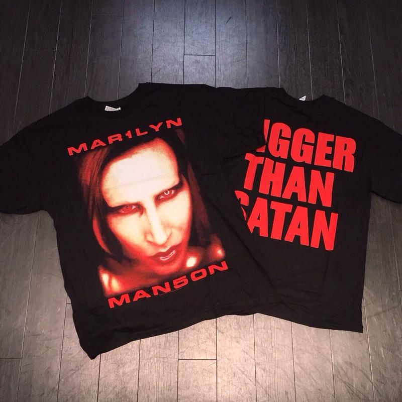 Marilyn Manson/official Bigger Than Satan Tee
