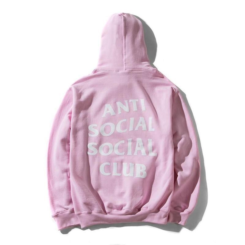 Anti Social Social Club/Logo フーディー Light Pink