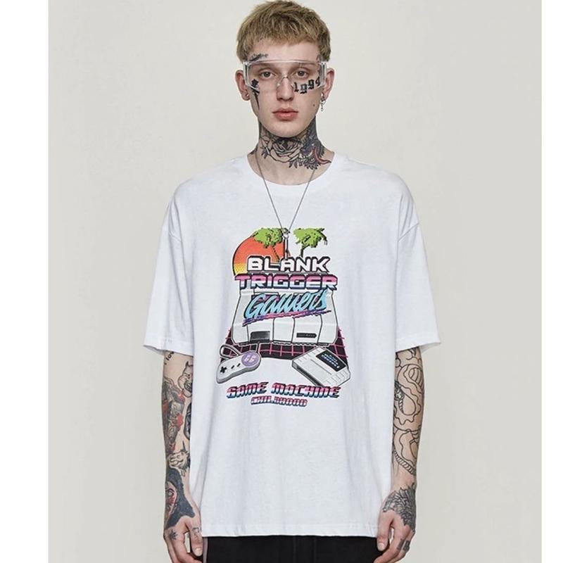 WOSS.official/GAME BOY Oversized  Tee WHITE