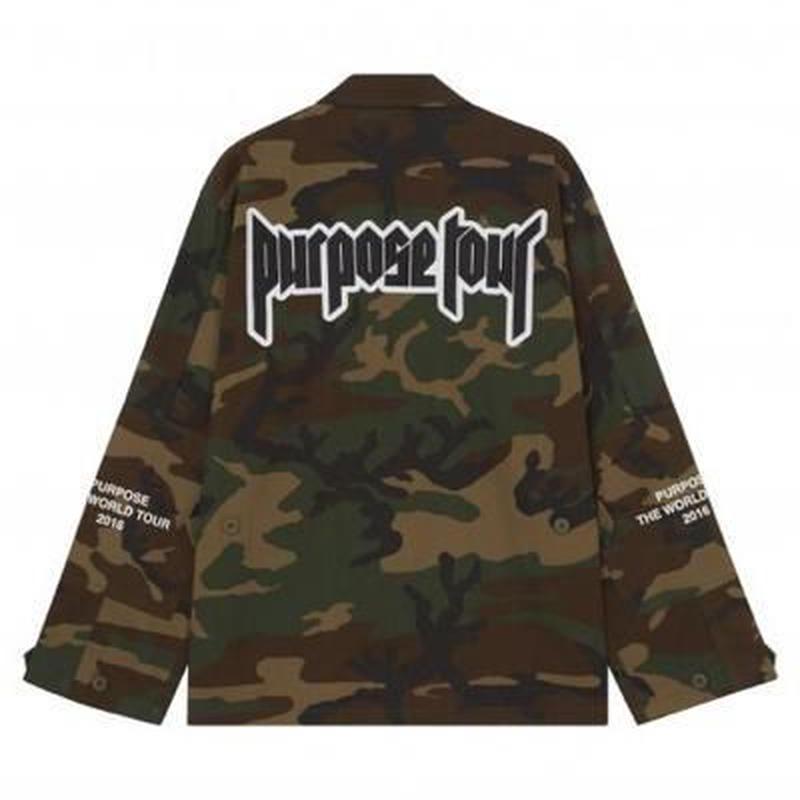Purpose tour/Justin bieber official Camo Jacket