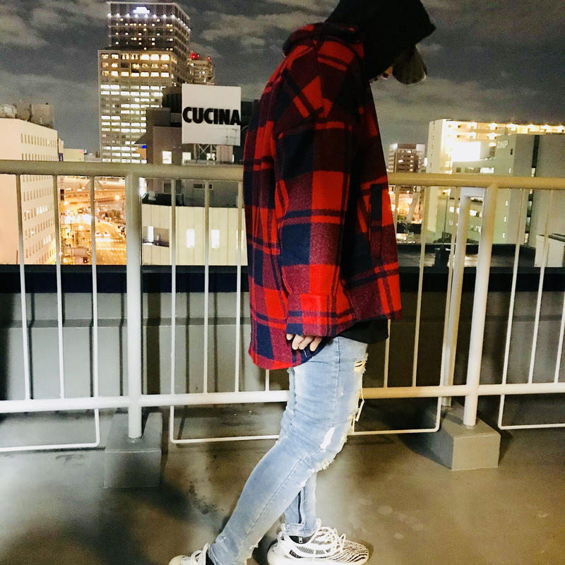 Mismatch NYC/Oversized plaid jacket