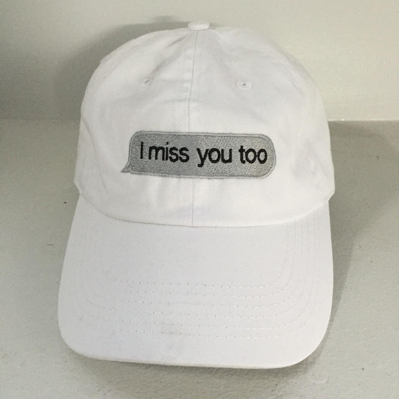 Trius Garments/i miss you too Reply cap ホワイト