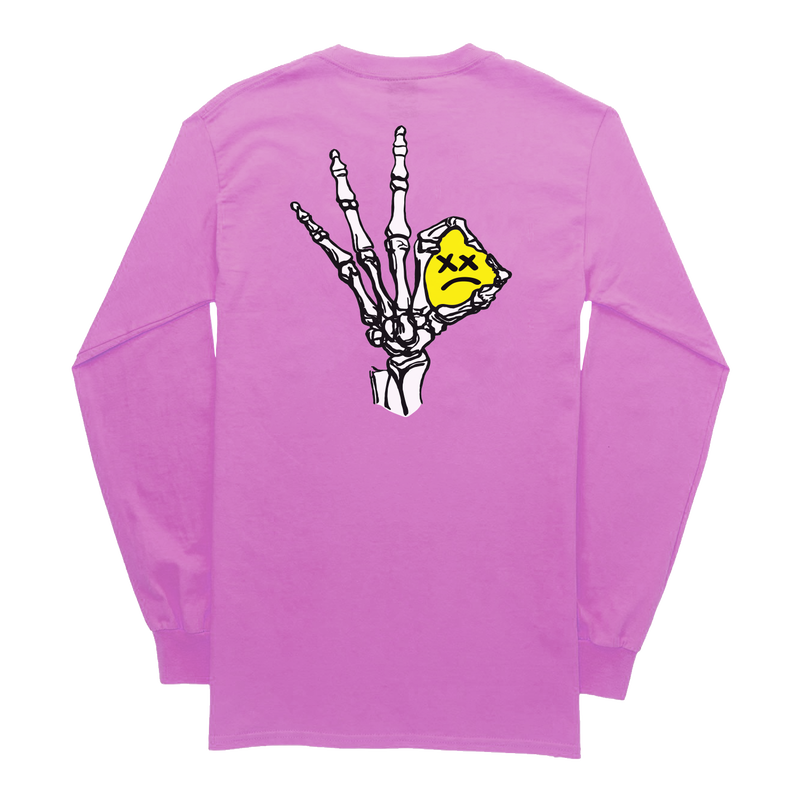 Lil Pump official merch/Unhappy Smile LongSleeve TEE PINK