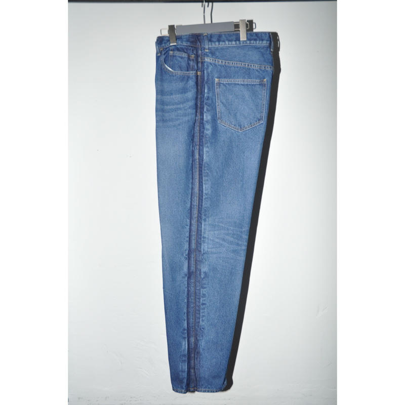 JOHN MASON SMITH : BAGGY TAPERD DENIM 5POCKET PANTS