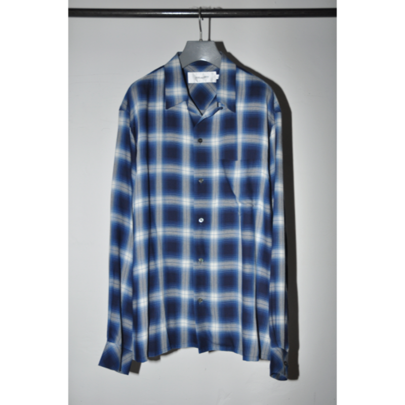JOHN MASON SMITH : OPEN COLLAR SHIRTS CHECK