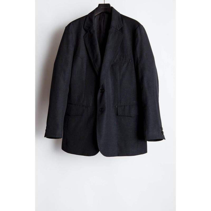 The Letters : Western Single Breasted Jacket -Wool Linen-