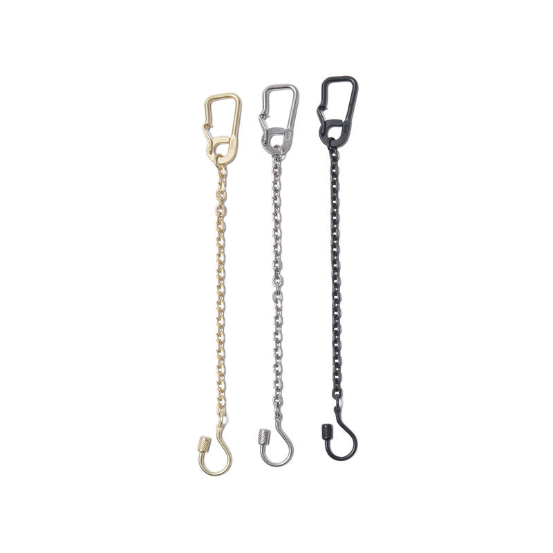 hobo : Brass Carabiner Key Ring with Chain