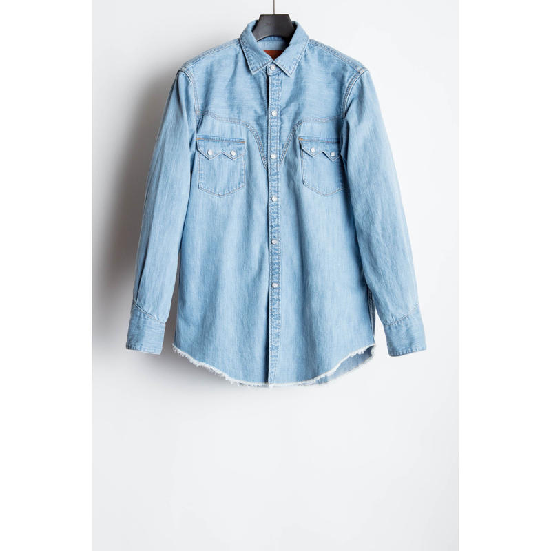 The Letters : Western Harry Denim Shirt  -Used Washed -