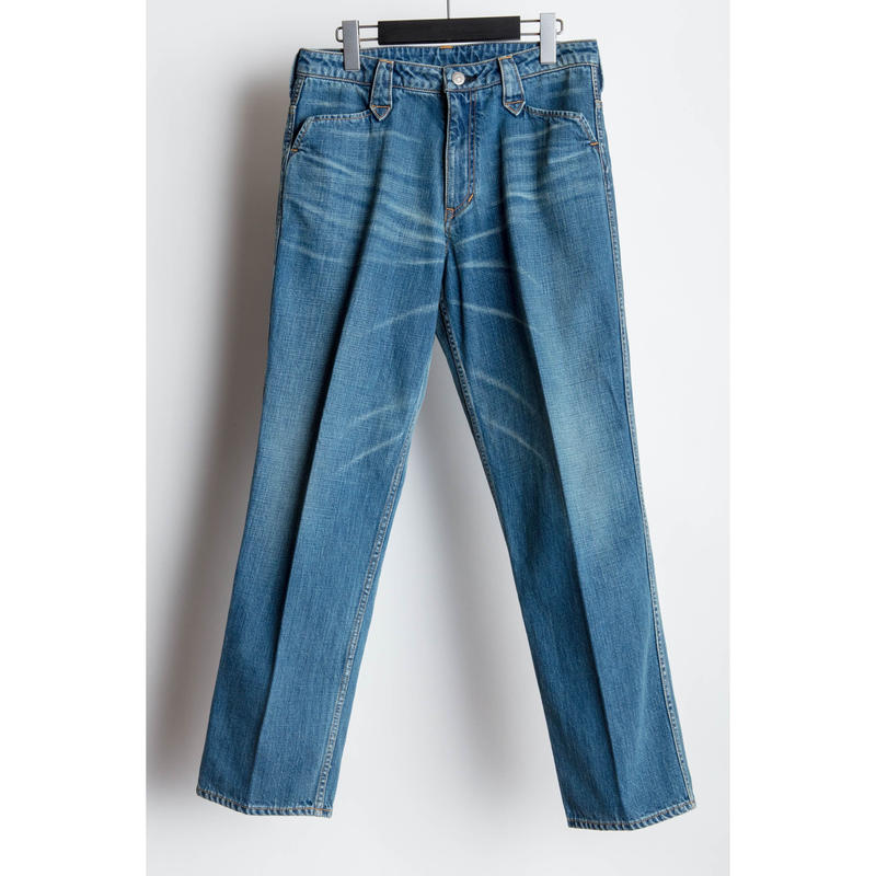 The Letters : Western Regular Denim Pants  -Used Washed -