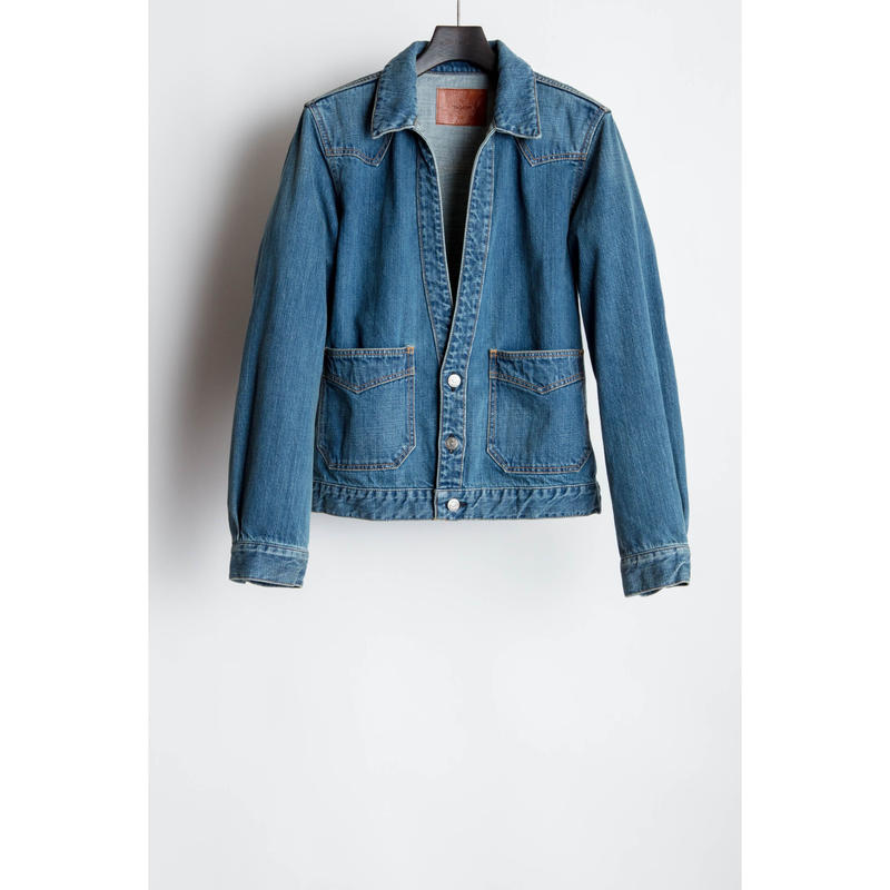 The Letters : Western Cutting Denim Jacket  -Used Washed -
