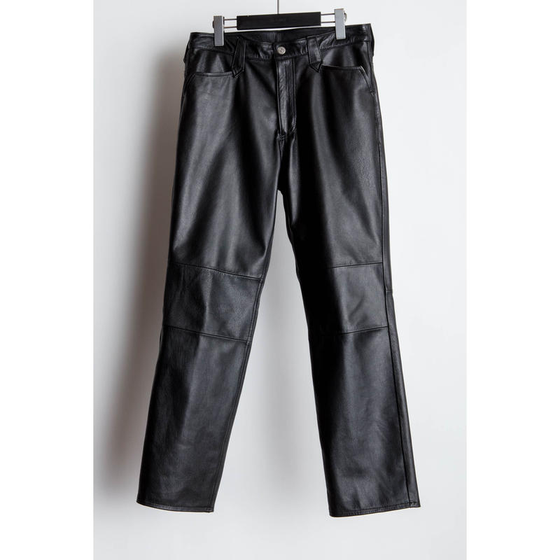 The Letters : Western Regular Pants  - Goat Leather -