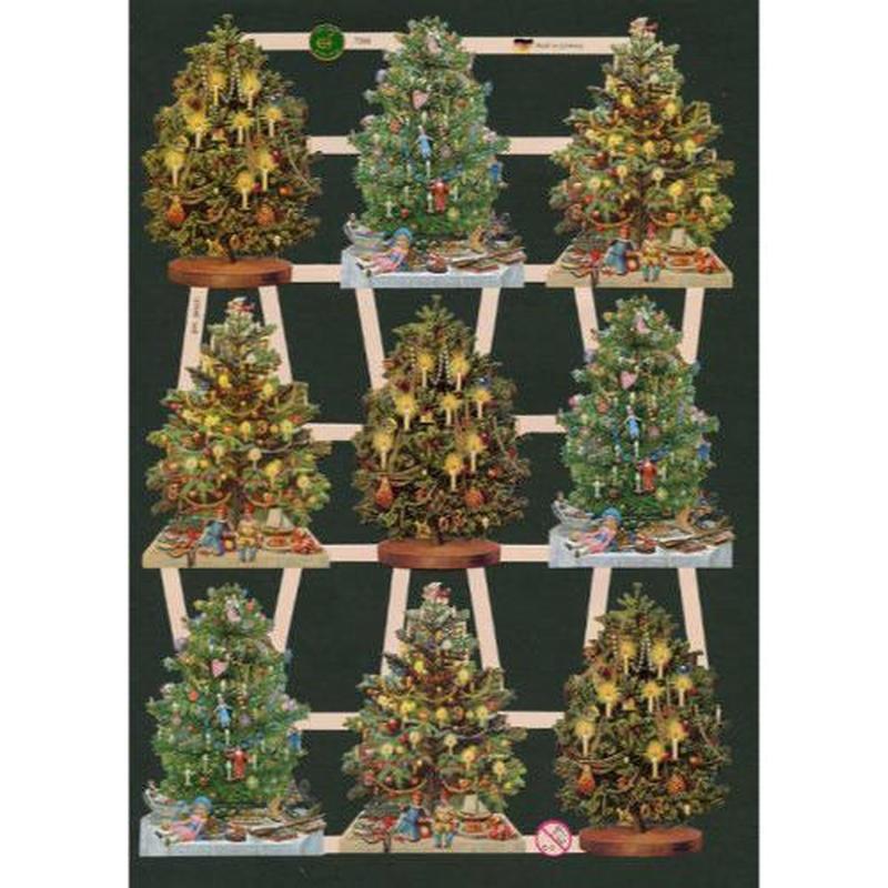 スクラップピクチャー・クリスマスツリー1