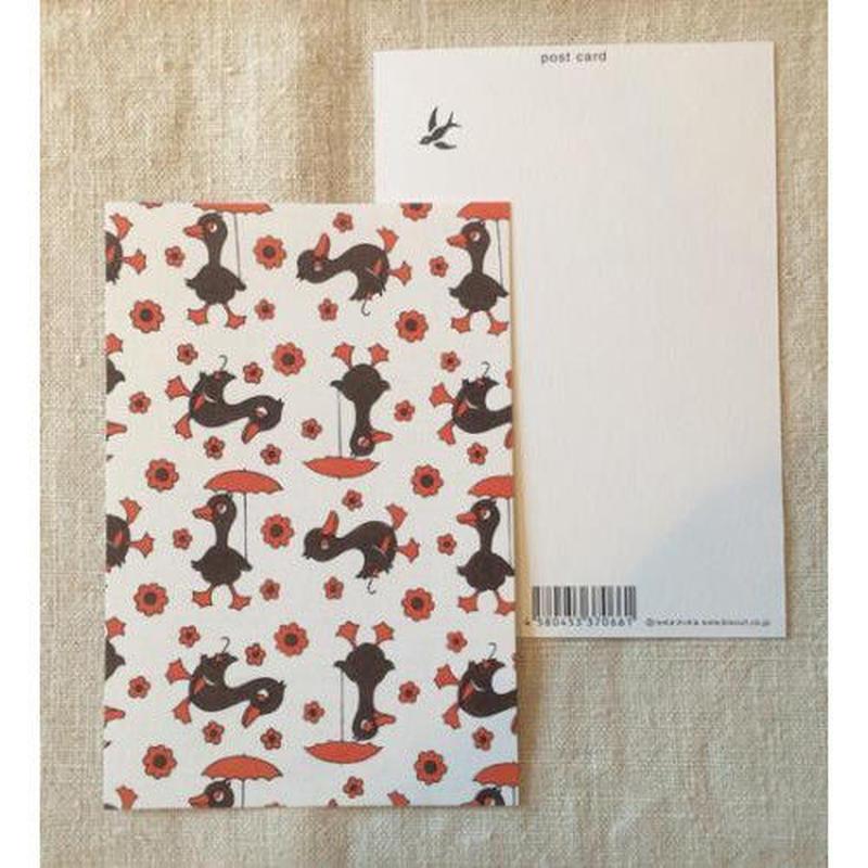 オリジナルポストカード・傘とアヒル・2枚