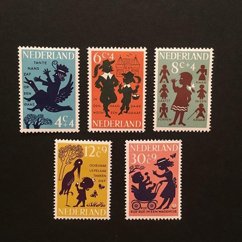 オランダの児童福祉切手'63