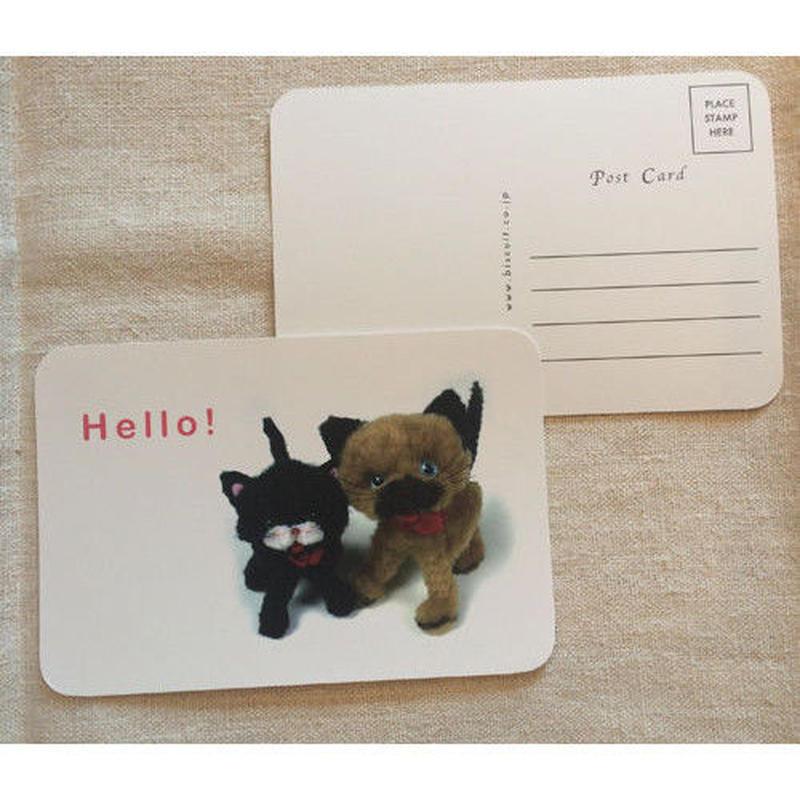 オリジナルポストカード・モールアニマルズ・2枚