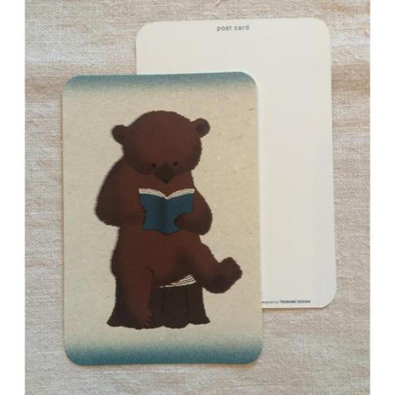 オリジナルポストカード・クマ読書B・2枚
