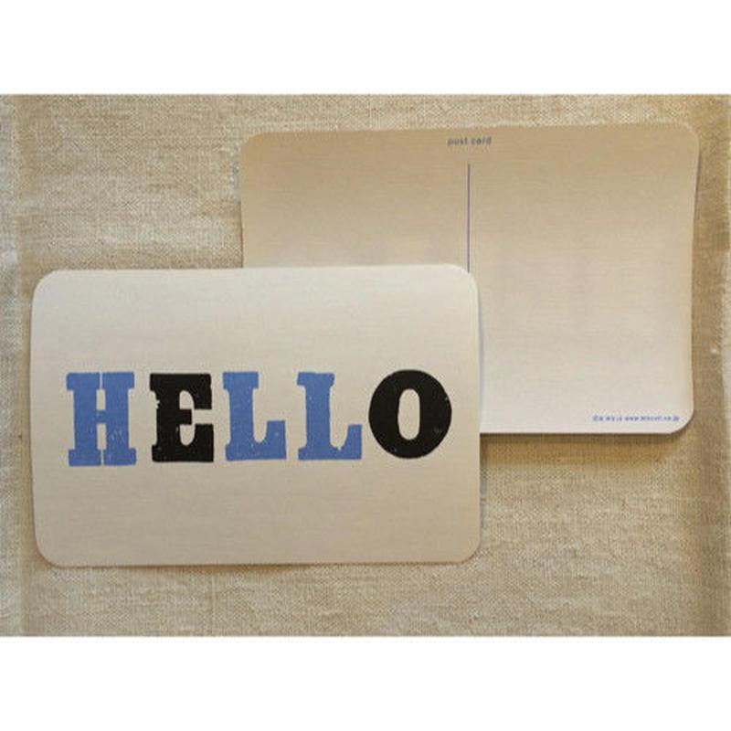 オリジナルポストカード・Hello 青・2枚
