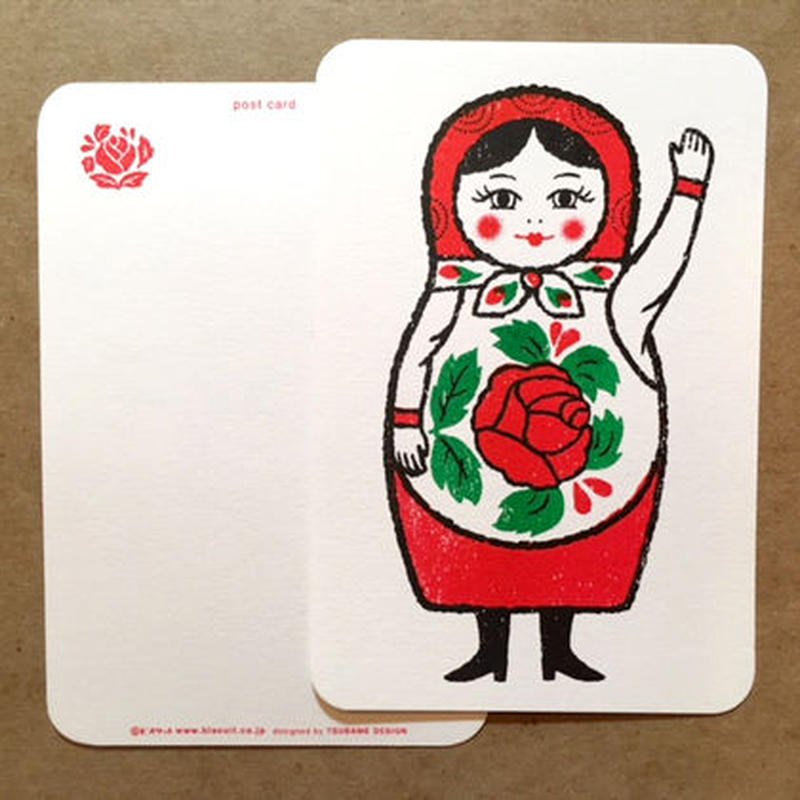 オリジナルポストカード・マトリョーシカ Hi・2枚