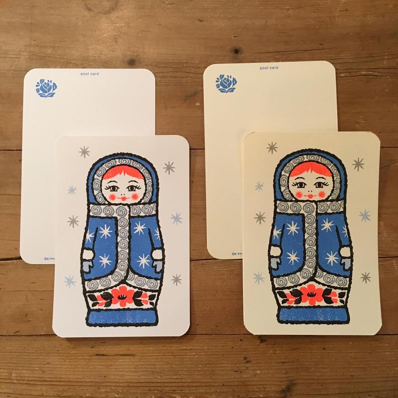 オリジナルポストカード・マトリョーシカ ブルー・2枚
