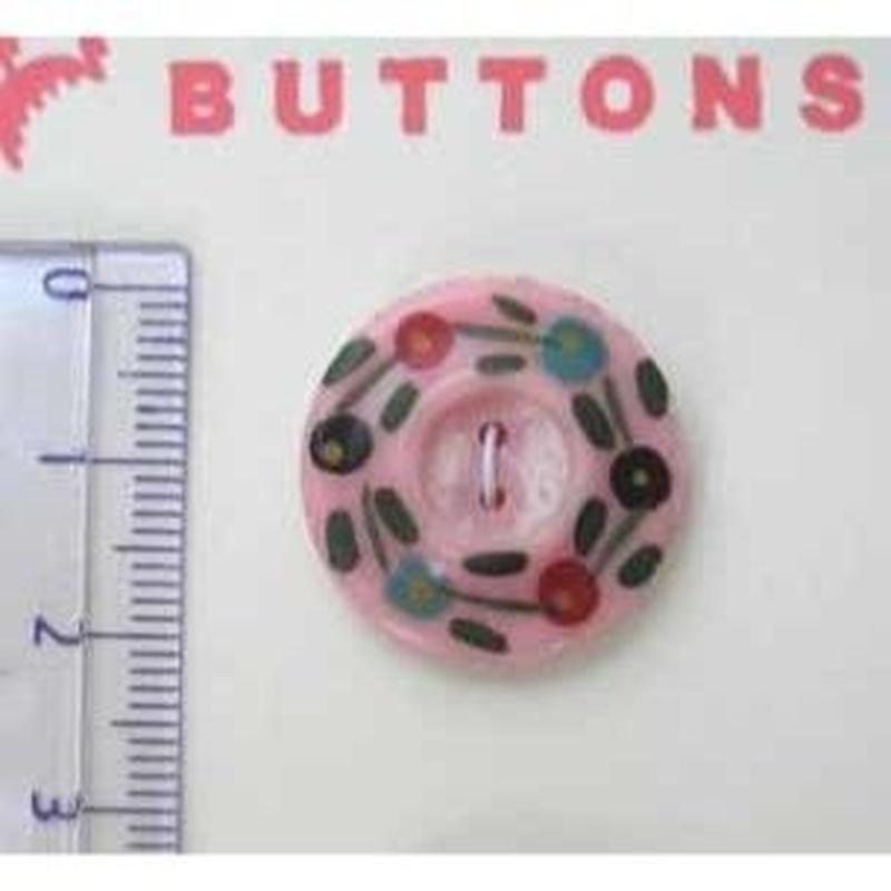 ベークライトボタン ピンク