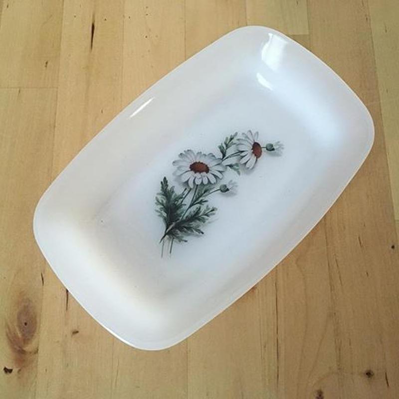 アルコパル ラヴィエ 小皿 マーガレット、デイジー柄