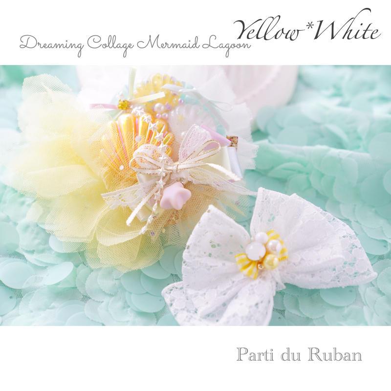 Dreaming Collage  Mermaid lagoon  Yellow*White