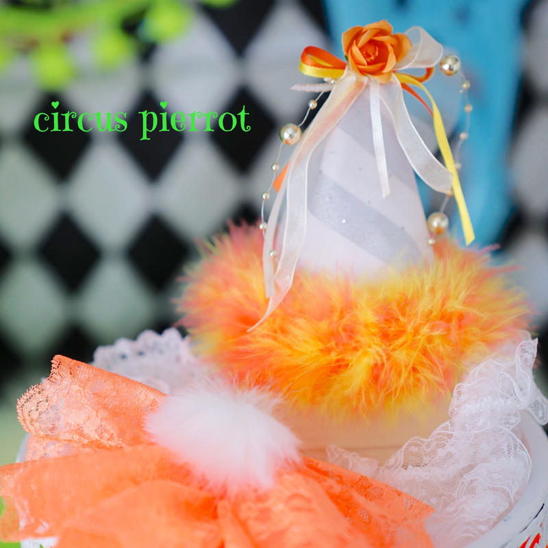 circus pierrot Ruban.orange